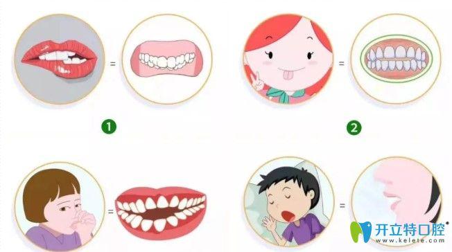 影响颌面发育的一些举动图示
