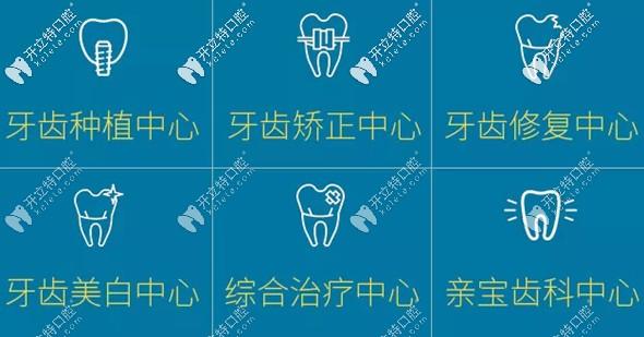 美奥口腔的各个治疗项目划分精细